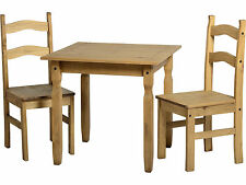 Seconique Solid Pine Kitchen/Dining Table with 2 Chairs - Corona Mexican Farmhou