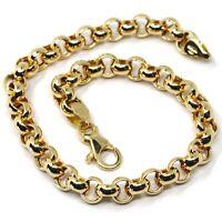 Armband Gelbgold 18K 750, Kette Rolo, Kreise Groß, Durchmesser 6 MM