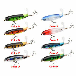 8X 11cm 15g Whopper Plopper Floating Popper Fishing Lure Artificial Bait Tackle