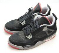 Jordan IV 4 Bred 2012 Size 13 Black Red 308497 089 Retro OG Suede Cement Grey