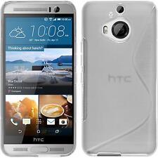 Silikon Hülle für HTC One M9 Plus clear S-Style + 2 Schutzfolien