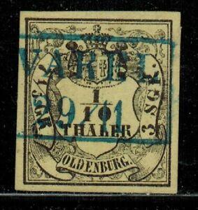 Germany Oldenburg #3 1852-55 Used