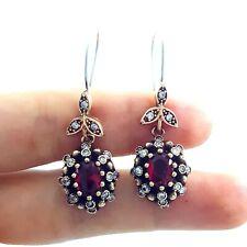 Victorian Jewelry 925 Sterling Silver Ladies Earrings Hurrem Sultan E2735