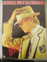 DAVID BOWIE CALENDAR 1984 rare official merchandise