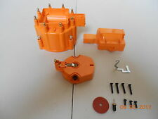 HEI Distributor Cap, Coil Cover & Rotor Kit*ORANGE* GM-CHEVY-PONTIAC-OLDS-FORD