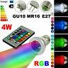 E27 RGB LED MR16 GU10 5W Magic Spot Light Lampe 16 Farben Dimmbare Fernbedienung