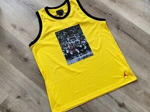 Air Jordan Herren Trikot XXL Gelb Shirt Basketball K404 13