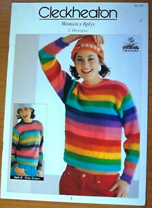 Cleckheaton Knitting Pattern, Women's 8 plys 2 Designs - Book No 327