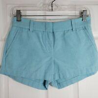 J. CREW Size 0 Blue Short Mini Shorts - Womens 100% Cotton - Machine Washable