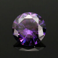 20MM 51.16Ct AAAAA Natural Purple Round Amethyst Gem Diamonds Cut VVS Loose Gems