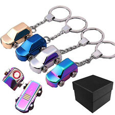 Mini Keychain USB Metal Car Flameless Rechargeable Lighter Windproof Gift Presen