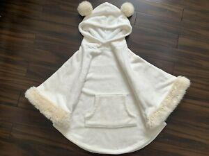 F&F Fur Cape poncho Sleepwear Size S/M