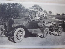 FORD MODEL T  WITH BOYS HAULING WOOD   11 X 17  PHOTO /  PICTURE