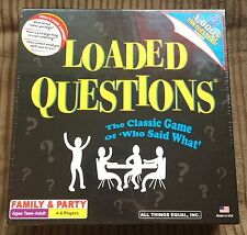 Loaded Questions Who Said What Family Party Trivia Quiz Board Game NEW SEALED