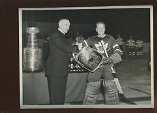 1948 Walter Turk Broda Toronto Maple Leafs Hockey 8 X 10 Wire Photo