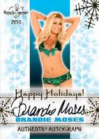 Brandie Moses 2011 Bench Warmer Holiday Autograph Auto