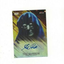 2018 Star Wars Finest Gold Refractor Clive Revill Voice of The Emperor Autograph