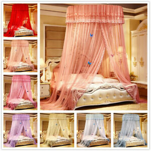 Round Lace Bed Netting Canopy Curtain Dome Insect Mosquito Net Princess Twin