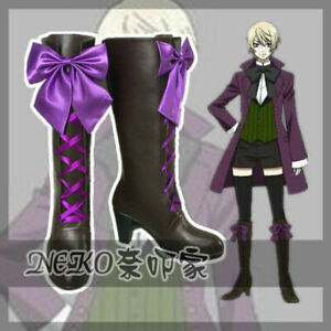 Black Butler 2 Alois Trancy Cosplay Shoes Boots Cos Shoes Custom Made#