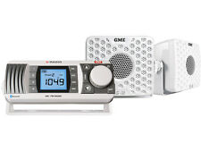 GME GR300 BTWEP AM/FM MARINE RADIO ENTERTAINMENT PACK WHITE INCLUDES SPEAKERS