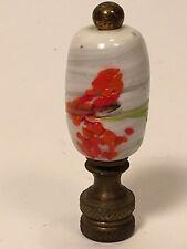 New ListingVintage Unusual Art Slag Glass Lamp Finial