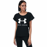 Womens Under Armour Graphic Sportstyle Fashion T-Shirt In Black