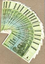 Zimbabwe 10 Trillion Dollars x 25 pcs AA 2008 P88 VF currency bills