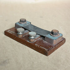 antique wooden  Meter Shunt 50 amps 75 m.v. No D 597792