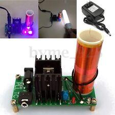 DIY 15W Mini Tesla Coil Plasma Speaker Kit Electronic Field Music + Power Supply