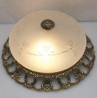 Antik Stil Decken Lampe Leuchte Ø25cm Kronleuchter Led Light Glas NEU VERKABELT