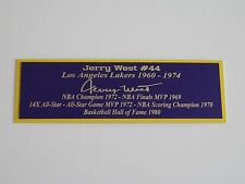 Jerry West Autograph Nameplate Los Angeles Lakers Autograph Ball Jersey Photo