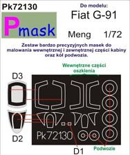 FIAT G-91Y CANOPY AND WHEELS PAINTING MASK TO MENG KIT #72130 1/72 PMASK