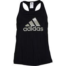 adidas Womens Core Poly Tank Black CW0209 - Size S , BNWT