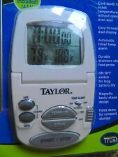 Taylor Precision Digital Cooking Thermometer & Timer & 4 Foot Probe 1470N NIP