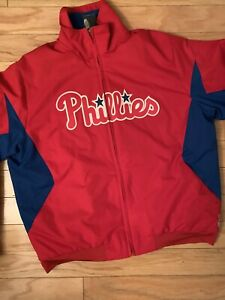 MLB Majestic Authentic Philadelphia Phillies Therma Base Jacket New Size Medium
