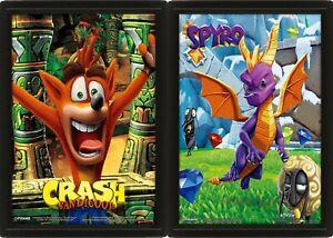 3D Lenticular Moving Poster Spyro Crash Bandicoot Playstation Unframed UK New