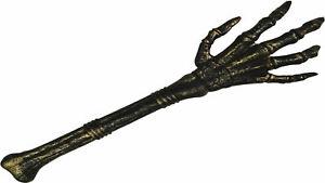 Skelett Hand mit Unterarmknochen Stab Hand des Todes Karneval Halloween Party
