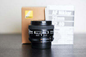 Nikon AF 28mm 2.8D FX Prime Lens - US Model & MINT!
