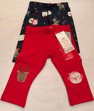 Christmas - 2 Pack Leggings - 3-6 Months - Brand New