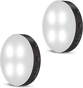 Motion Activated Lights 2Pack Magnetic Back Spotlight Sensor Security LEC012B
