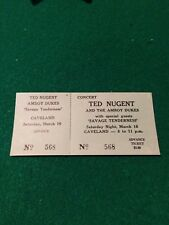 Ted Nugent And The Amboy Dukes 1974 Concert Ticket