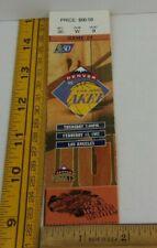 Los Angeles Lakers game ticket vs Denver 2/13/1997 Kobe Bryant rookie season