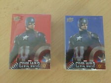2016 Marvel Captain America Civil War; Complete Red & Blue Base Set Walmart +++
