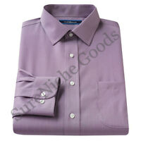 New Croft & Barrow Men's Classic-Fit Spread-Collar Dress Shirt Purple MSRP $65