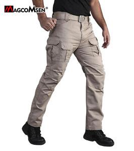 Men's Tactical Rip-Stop Cargo Pants Military Army Safari Commando Pants Trousers