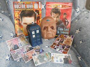 bundle DOCTOR WHO toys,DAVROS mask,comic,TARDIS money BOX,MODEL making BOOK, dr