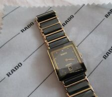Rado Men's Diastar Ceramic & Gold-Plated Quartz Watch w/ Date Feature