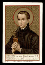 antico santino cromo-holy card S.GIOVANNI BERCHMANS poellath
