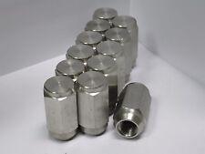 Twelve (12) 1/2-20 Solid 304 Stainless Steel Lug Nuts trailer wheel