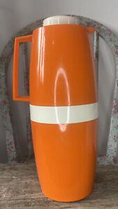Vintage Orange Vacco Flask Jug Retro Camper Camping 60s 70s
